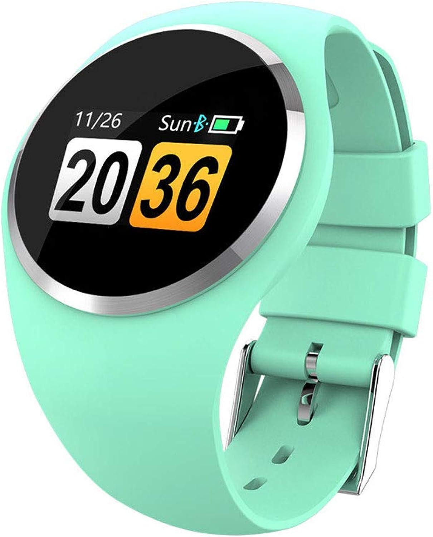 AZWE Smart Bracelet Multifunktionale gesunde Herzfrequenz-Blautdrucküberwachung Wasserdichte Sportuhr Smart Watch,Grün