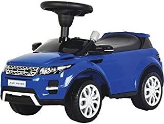 Evezo Range Rover Evoque, Ride-On Toy Car for Kids, Full Steering, Adult Push, Licensed (Blue)