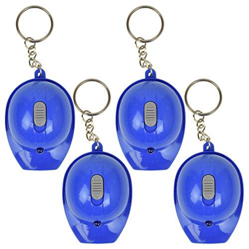 Hard Hat Flashlight Keychain Beer Opener | 4 Count | Blue