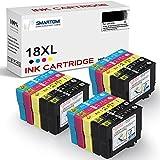 SMARTOMI 18XL Cartucho de Tinta Compatible para Epson 18XL para Epson Expression Home XP-322 XP-215 XP-205 XP-225 XP-305 XP-325 XP-422 XP-415 XP-315 XP-312 XP-425 (6 Negro,3 Cian,3 Magenta,3 Amarillo)