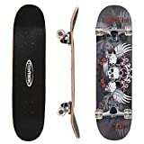 ChromeWheels 31 inch Skateboard Complete Longboard Double Kick Skate Board Cruiser 8 Layer