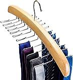 House day percha corbatero 24 corbatas de madera con ganchos de metal organizador