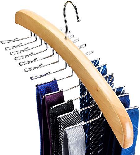 HOUSE DAY - Portacravatte in legno, girevole, per 24 cravatte