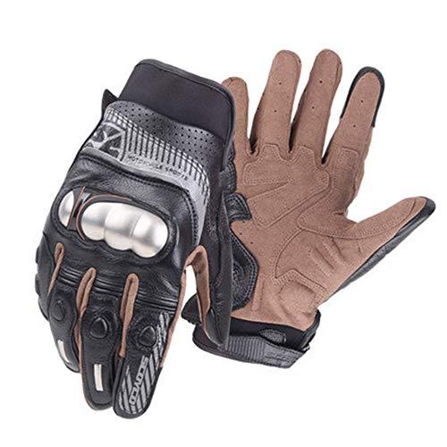 Off-Road motorrijhandschoenen, roestvrij stalen mantel locomotief ridder breekvaste handschoenen, kan het elektronische scherm aanraken