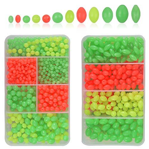 AGOOL Fishing Bead Assorted Kit - 1000pcs/box Luminous Soft Plastic...