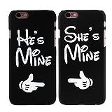 2 x Coque iPhone 6 / 6s, Cuitan He's Mine et She's Mine Désign Couples PC Givré Difficile Housse Case Anti-Rayures Retour Protecteur Back Cover Shell pour Apple iPhone 6 / 6s (4,7 Inch)