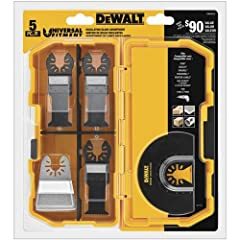 Universal fitment for use on all major brands No adapter required Includes (2) DWA4203, (1) DWA4206, (1) DWA4213 and (1) DWA4217 Variety set of blades for multiple applications Versatile Tough Case allows users to customize compartments to fit a wide...