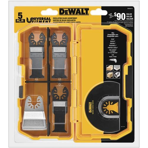 DEWALT Oscillating Tool Blades Kit, 5-Piece...