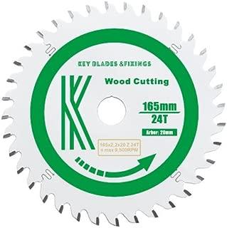 Key Blades 165mm x 20mm x 2.2mm 24 TOOTH Track Circular Saw Blade Track Saw