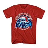 T-Line Men's Legends of Cthulhu Cthulhu for President Graphic T-Shirt, Red, Medium