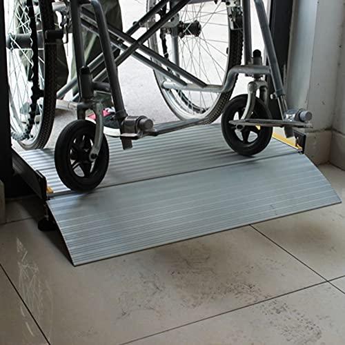 Rampa de Goma Rampas Rampas para Sillas de Ruedas para Portales, Altura Ajustable Antideslizante Portátil Rampas de Entrada para Scooter Silla para Discapacitados Paseante Bicicleta, Aluminio