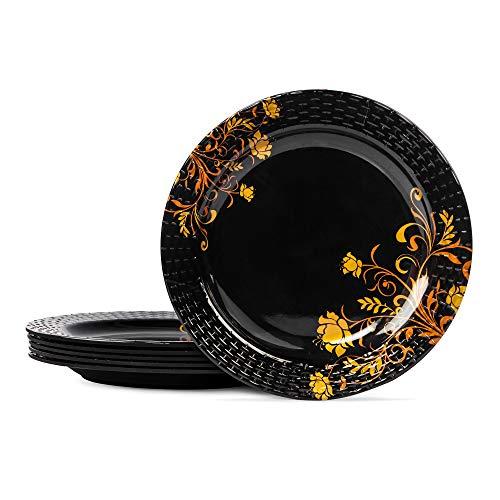 aeMAHARANI Melamine Dinner Set - Pack Of 24, Multicolour