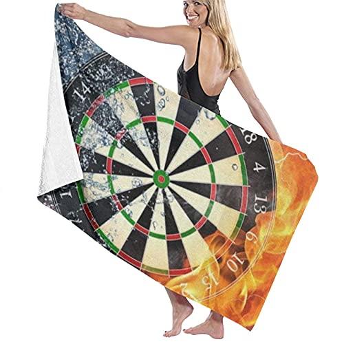 Dardos Board blanco agua fuego playa toalla toalla de baño suavidad absorción uso diario deportes al aire libre viajes natación 80x130cm