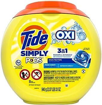 Tide Simply Pods +oxi Liquid Laundry Detergent Pacs Capsules