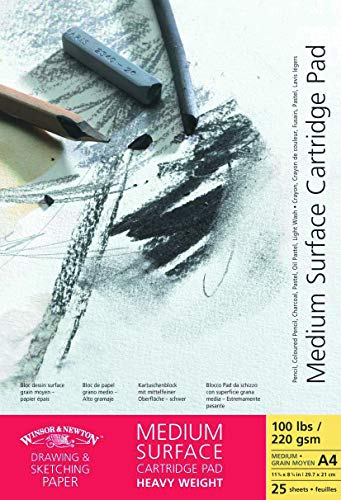 Winsor&Newton - Blocco Carta Grana Media Incollato - 220 Gr - A4 - 25 Fogli