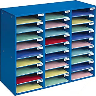 Really Good Stuff Mail Center – 1 Blue Classroom Mail Center with 27 Slots – Keep Your Classroom or Office Organized, Durable, Easy Assembly, 159790BL