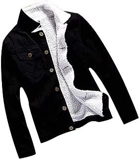 Doric Womens Autumn Winter Fleece Lining Denim Thicken Jacket Casual Long Sleeve Loose Jeans Coat