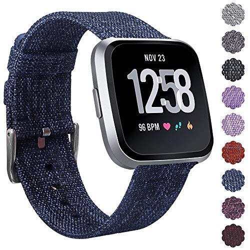 KIMILAR Correa Compatibles Fitbit Versa/Versa 2/Versa Lite Correa de Recambio Tejida, Liberación Rápida Reemplazo de Banda de la Muñeca Pulseras con Cierre de Metal Inoxidable para Versa Smartwatch