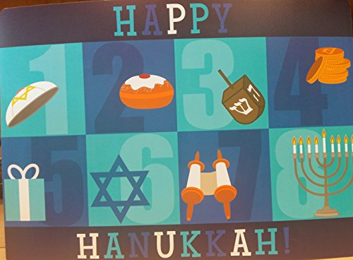 Happy Hanukkah Padded Placemat 18' X 13'