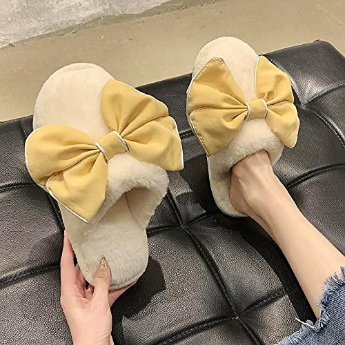 Zapatillas De Casa para Mujer Primavera,Zapatillas De OtoñO E Invierno Mariposa Peludas,...