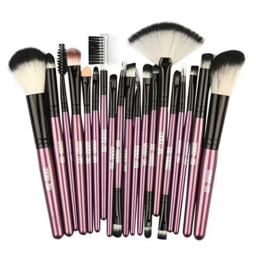 18PCS Fundación de madera cosmética ceja cepillo de sombra de ojos maquillaje...