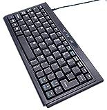 Solid Tek KB-P3100BU ASK-3100U USB 4x9 SuperMini Wired Keyboard - Black