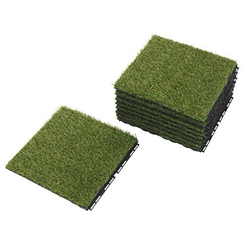 IKEA Outdoor Deck und Terrasse Interlocking Bodenbelag Fliesen (Gras)