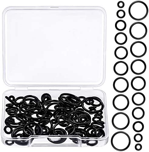 100 Pieces Silicone Replacement Black O Rings for Ear Piercing Gauge Kit 12 mm 14G 12G 10G 8G product image