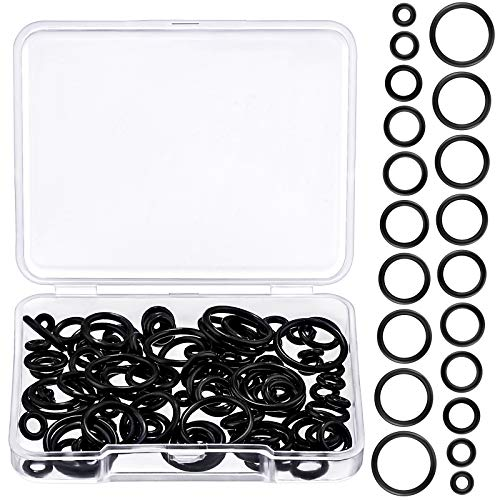 100 Pieces Silicone Replacement Black O-Rings for Ear Piercing Gauge Kit 12 mm 14G 12G 10G 8G 6G 4G 2G 0G 00G