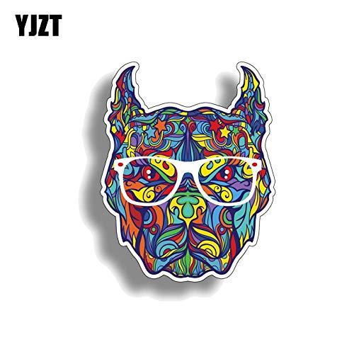 9,5 cm*12 cm Persoonlijkheid Graffiti Pitbull Hond Hoofd Auto Sticker Sticker Decal