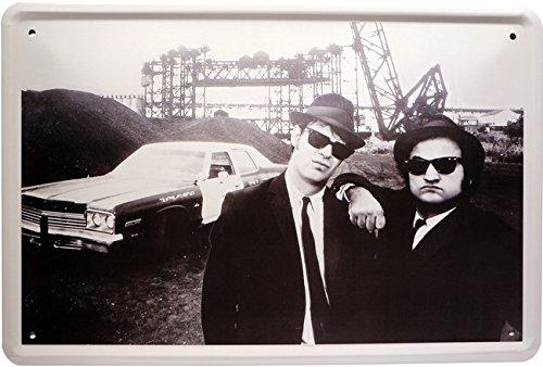 Plaque en tôle The Blues Brothers - 20 x 30 cm - Plaque publicitaire rétro - 1104