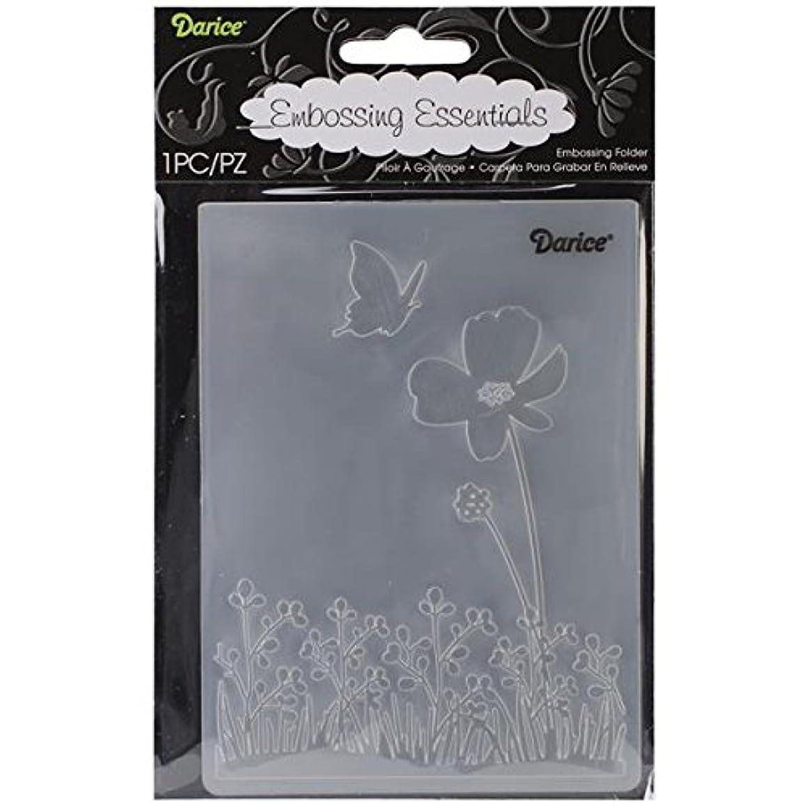 Darice EB12-18-54 Embossing Folder, 4.25 by 5.75-Inch, Butterfly on Flower
