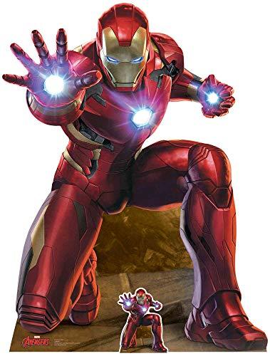 US-Way e.K. Expositor de cartón Iron Man Repulser Blast aprox. 133 cm, figura expositora de cine, figura de cartón, tamaño real