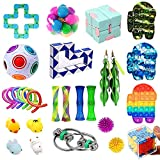 FURIENIDE 28 Pack Sensory Fidget Toys Set, Relieves Stress and Anxiety Fidget Toy, Stress Anxiety Relief Toys Set for Children Adults, Perfect for Classroom Reward, Birthday (Style-A)