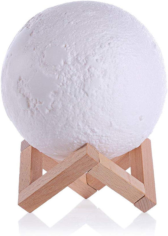 Haushalt Nachtlicht LED Kreative Persönlichkeit PVC Material Material Material Touch Drei Farbe 3D Wohnzimmer Schlafzimmer Nachttischlampe Mond Tischlampe B07LCKSDQ5 | Bevorzugtes Material  785aee