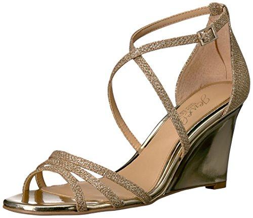 Jewel Badgley Mischka Women's Hunt Sandal, Gold, 7.5 Medium US