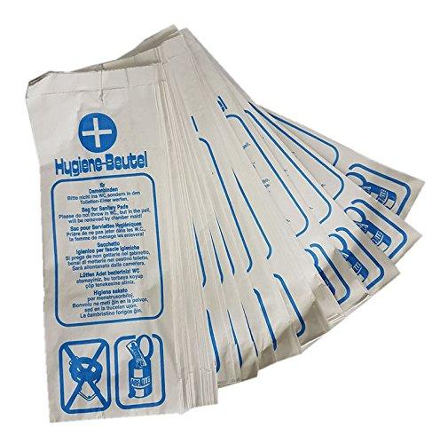 Hygienebeutel aus Papier Deiss, weiß, 1000 Stück