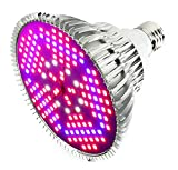 Outcrop Innovations 100w Indoor LED Grow Light Bulb for Growing Plants, Vegetables, and Flowers - 150 Individual LEDs Full Spectrum PAR with E27 Base for Hydroponics Greenhouses Indoor Gardening