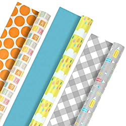 Hallmark Reversible Wrapping Paper, Baby Love (Pack of 3, 120 sq. ft. ttl.)