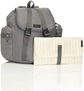 Storksak Diaper Changing Travel Backpack, Grey,