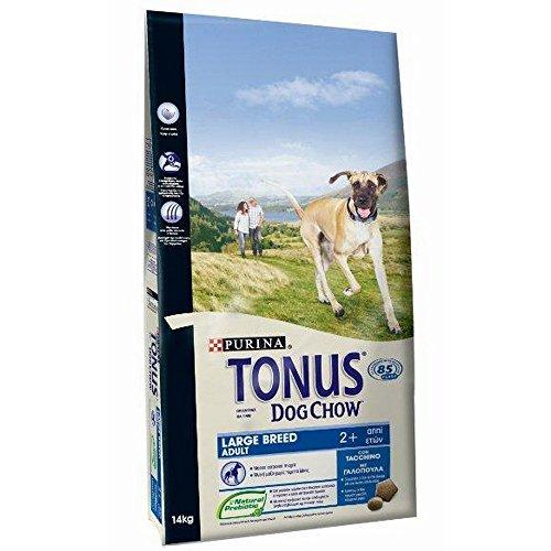 Purina Tonus Dog Chow Adulto Grande con tacón 14 kg Comida Seca para Perros pienso, Multicolor, única