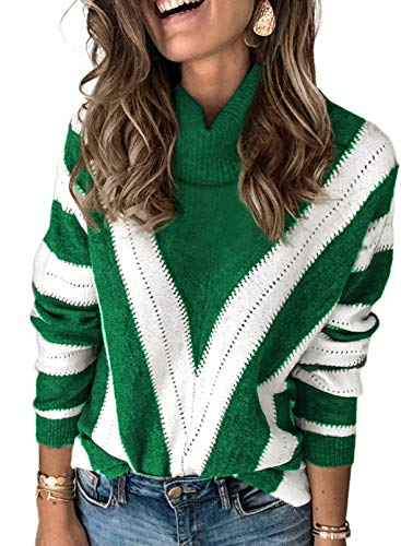 Modasua Ladies Jumper Pullover Tops Sweaters for Women Turtleneck Jumpers