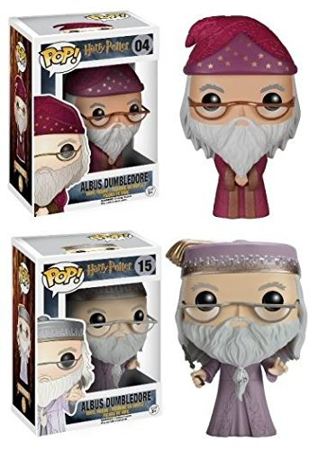 Funko POP! Harry Potter: Albus Dumbledore traje rosa y lila