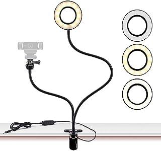 Soporte de luz para cámara Web Live Stream, Anillo Selfie con Soporte para cámara Web para Logitech C925e, C922x, C930e, C922,C930, C920, C615, Brio 4K