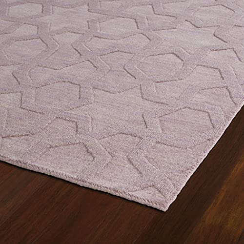 Kaleen Rugs Imprints Modern Collection IPM06-90 Lilac Hand Tufted Rug, 2' x 3'