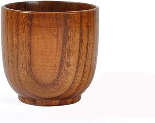 🍀Libobo🍀Natural Wooden Cup Wood Coffee Tea Beer Juice Milk Water Mug Handmade (A)