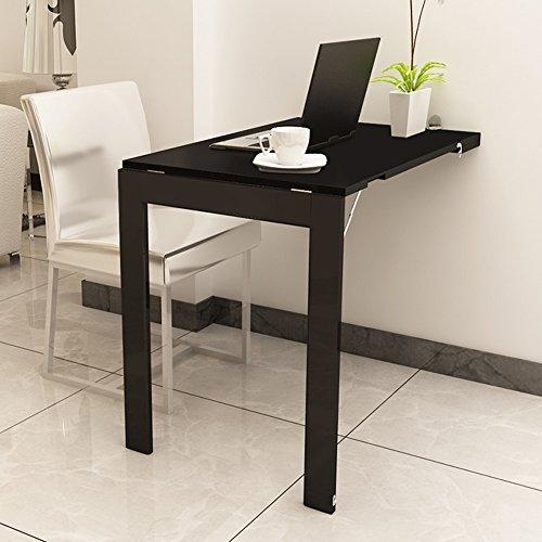QARYYQ Opvouwbare muur gemonteerd druppel blad tafel Eettafel Laptop Bureau Fold Photo Frame,Huishouden Solid Wood Bar 90x60cm opklaptafel