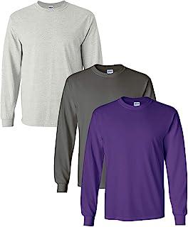 Ultra Cotton Long Sleeve T-Shirt 3-Pack LRG-Ash-Charcoal-Purple