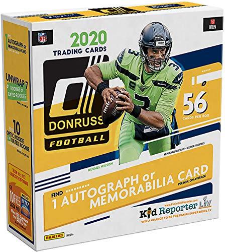 2020 Donruss Football Factory Sealed 5 Pack Mega Box - Fanatics Exclusive - Football Wax Packs