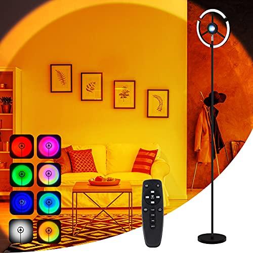 MILFECH Sunset Lamp Dimmbar con mando a distancia, 180° rotación 10 RGB Sunset Light, USB LED proyector luz para la decoración de habitaciones, decoración de pared, selfies y fotografía